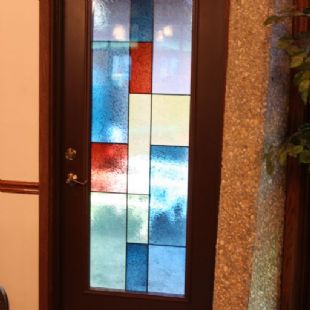 Good Shepard United Methodist Church - ProVia entry doors w/custom inspirations glass